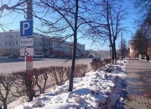 Парковаться возле кремля получили возможность инвалиды в Нижнем Новгороде