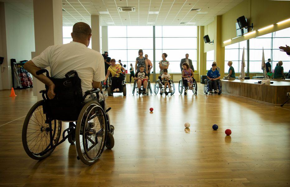 Акция в поддержку паралимпийской сборной России.