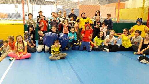 03 декабря ребята, участвующие в проекте «Спорт вместе. По-настоящему!», смогли бесплатно посетить батутный парк