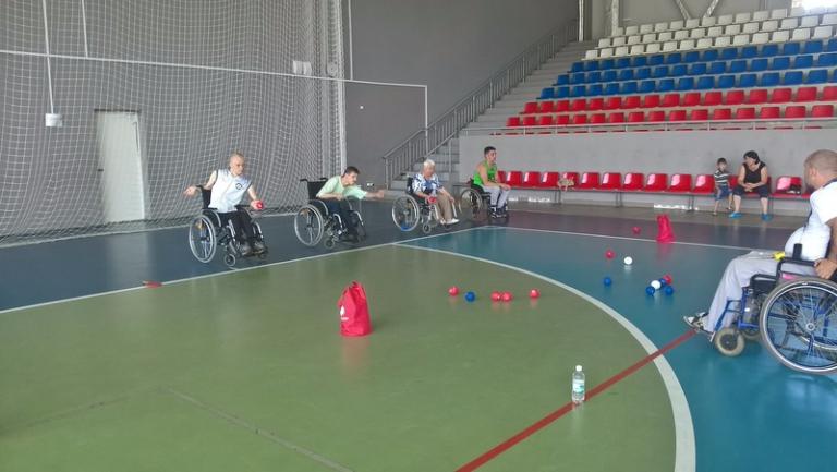 Во Дворце спорта «Юность» была организована тренировка по бочча