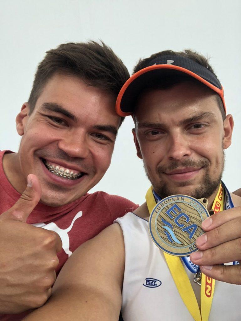 Серебряная и бронзовая медали в активе Романа Серебрякова и Артема Воронкова на чемпионате Европы на параканоэ