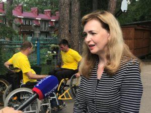 Председатель избирательной комиссии Нижегородской области в качестве Почетного гостя посетила открытую тренировку в спортивно-реабилитационном лагере для людей с инвалидностью.