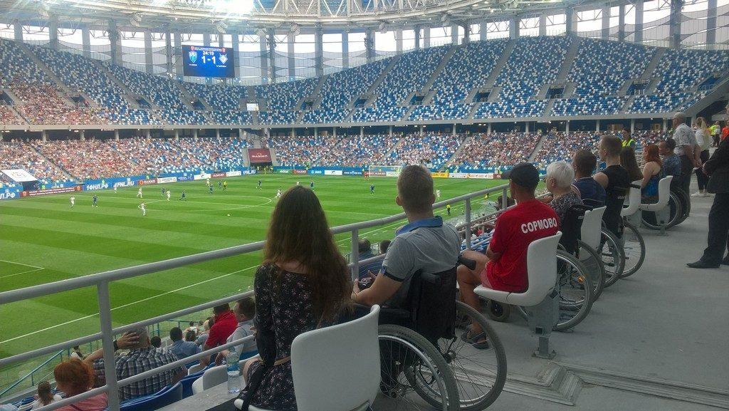 Первые весенние матчи на стадионе Нижний Новгород!